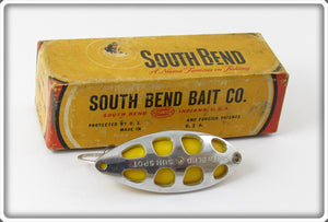 South Bend Chrome Yellow Sun Spot Spoon In Correct Box 525 CY