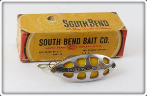South Bend Chrome Yellow Sun Spot Spoon In Correct Box