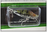 Heddon Natural Spotted Bass Tiny Runt On Card