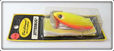Arbogast Chartreuse Orange Belly Jitterbug On Card