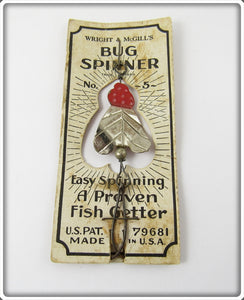 Wright & McGill Bug Spinner On Card