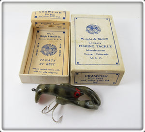 Wright & McGill Gray Crawfish In Correct Box