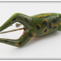 Pflueger Conrad Frog In Correct Box With Paper 767 Natural Green