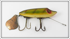 Vintage Heddon Dowagiac Perch Flaptail Jr Lure 7119 L
