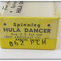 Arbogast Pearl Herringbone Spinning Hula Dancer In Correct Box 862 PLH