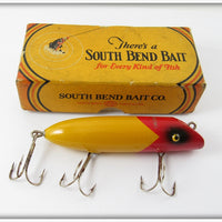 South Bend Red Arrowhead Yellow Body Bass Oreno In Box 973 RY
