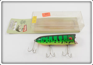 Heddon Vintage 1984 GRA Fluorescent Green Crawdad Lucky 13 In Correct Box