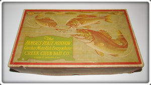 Creek Chub Empty Dealer Box For Silver Flash River Scamp