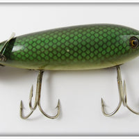 Heddon Green Scale Crab Wiggler In Correct Box 809D