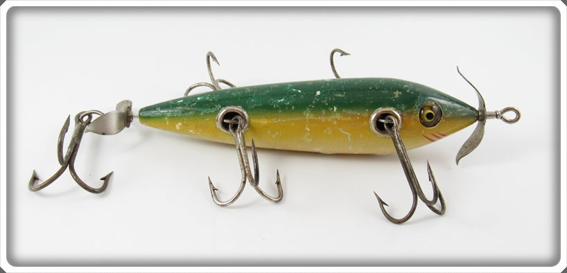 Vintage Shakespeare Green Back Musky Trolling Minnow Lure 64