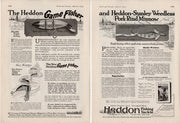1923 Heddon Gamefisher & Stanley Weedless Ad Pair