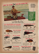 1942 Creek Chub & Heddon River Runt Two Sided Ad