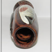 Carl Christiansen Walleye, Musky & Pike Carved Vase