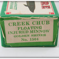 Creek Chub Golden Shiner Lefty Injured Minnow In Box