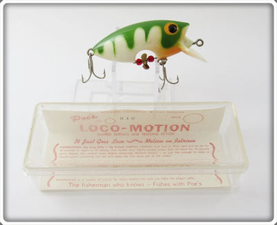 Poe's White Green Striped Loco-Motion In Box