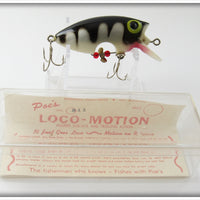 Poe's White Black Striped Loco-Motion In Box