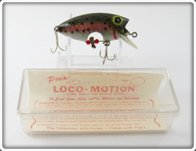 Poe's Rainbow Trout With Sparkles Loco-Motion In Box
