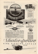 1924 Shakespeare Fine Fishing Tackle Ad