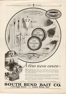 1921 South Bend Vacuum Bait & Lure Ad