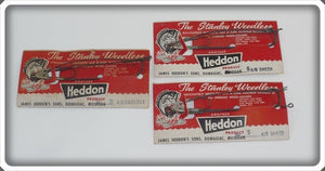 3 Heddon-Stanley Weedless Hooks On Cards