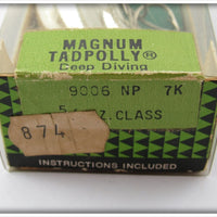 Heddon NP Nickel Plate Chrome Magnum Tadpolly Sealed In Box
