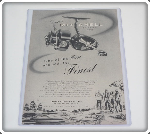 Original 1955 Garcia Mitchell Spinning Reel Ad