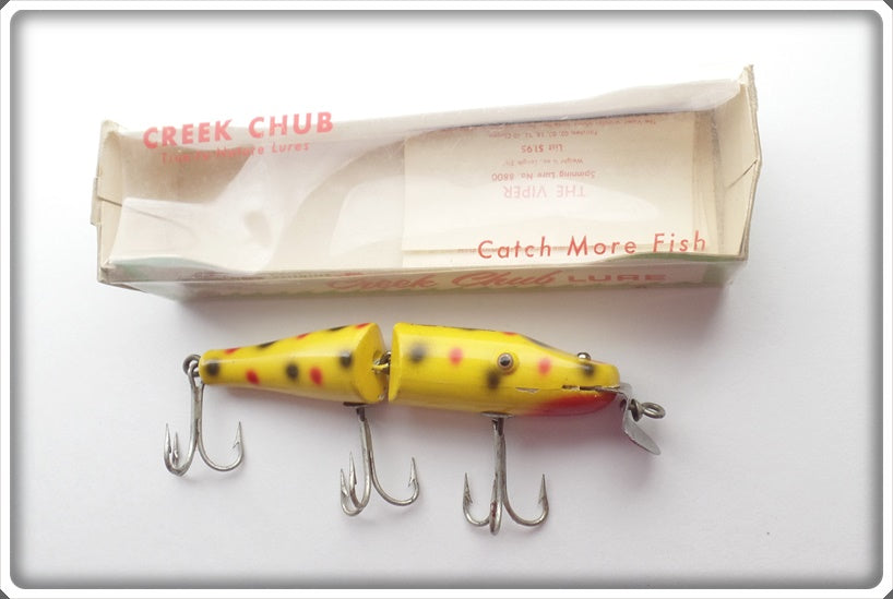 Creek Chub Yellow Spotted Jointed Pikie In Correct Box 2614 W