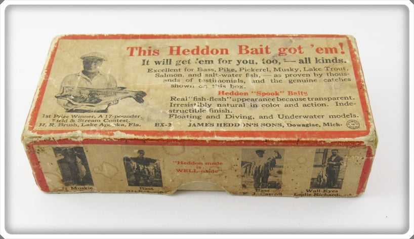 Heddon Empty Box For White Shore 740 Punkinseed