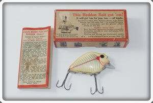 Heddon White Shore Punkinseed Floater In Correct Box 740 2XS