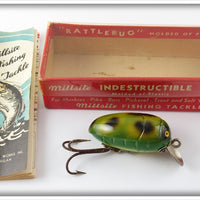 Millsite Frog Spot Rattle Bug In Correct Box 908 Floater