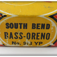 South Bend Yellow Perch Bass Oreno In Correct Box 973 YP