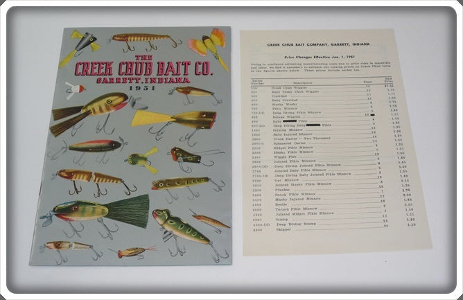 Creek Chub Bait Co Garrett Indiana 1951 Catalog