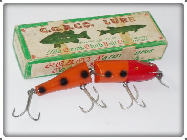 C.C.B.CO Creek Chub Orange Spotted Jointed Husky Pikie In Box 3030