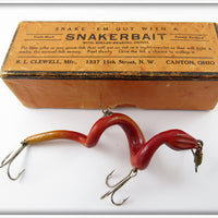 R.L. Clewell Red & Yellow Snakerbait In Correct Box