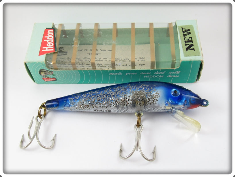 Heddon Blue Silver Flitter Big Tiger In Correct Box