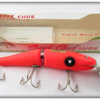 Creek Chub Fluorescent Flo Red Jointed Pikie In Correct Box 2600 FR