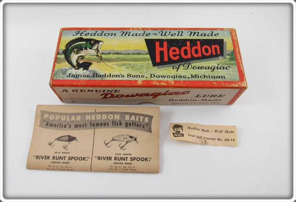 Heddon Empty Box For 7500 D Green Scale Vamp