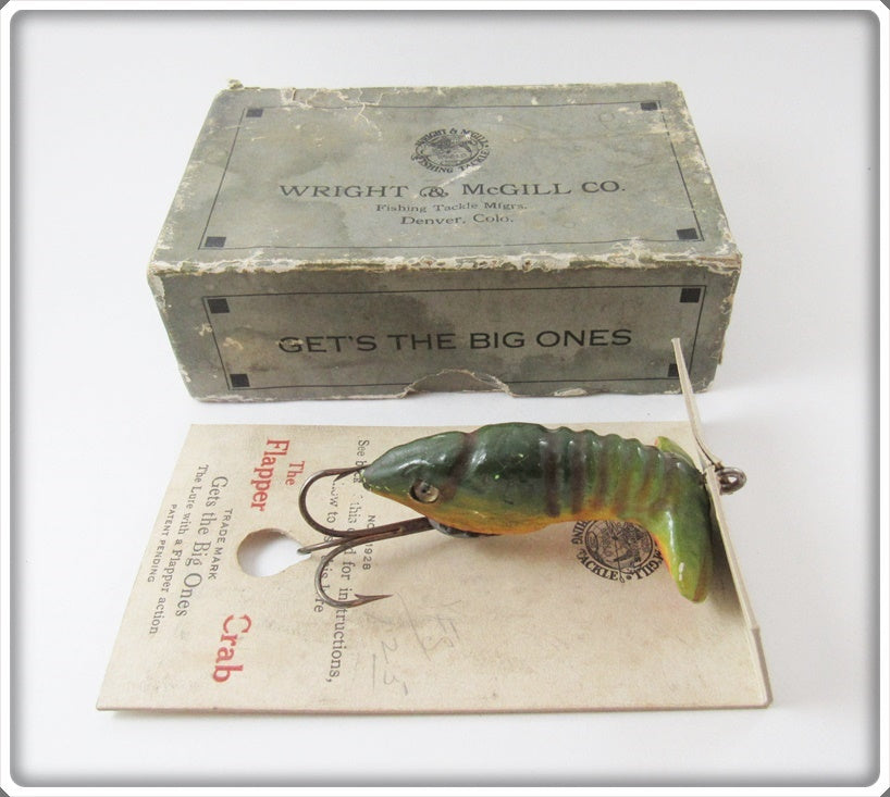 Wright & McGill Flapper Crab In Correct Box