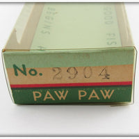 Paw Paw Red & White Rhinestone Eyes Deep Diver Jointed Piky Getum In Correct Box 2904