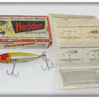 Heddon Yellow Shore Wounded Minnow In Correct Box