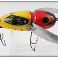 Heddon YRH Black Pupil Crazy Crawler In Box