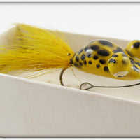 Heddon Yellow Frog Pop Eye Frog In Correct Box 85YF