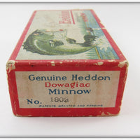 Heddon Red & White Thin Body Crab Wiggler In Correct Box 1802