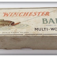 Vintage Winchester Bait Scale Finish Silver Lure Box