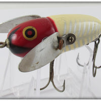 Vintage Heddon 2120 XRW Red & White Shore Crazy Crawler In Correct Box