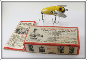 Vintage Heddon 2120 XRY Yellow Shore Crazy Crawler Lure