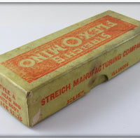 Vintage Streich Mfg Co Red Head White Flex O Mino In Correct Box