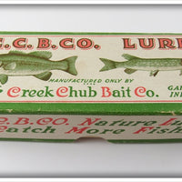 C.C.B.CO. Creek Chub Bait Co Empty Box For All Red Wiggler Lure 112