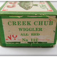 Creek Chub Empty End Label Box For All Red Wiggler 112