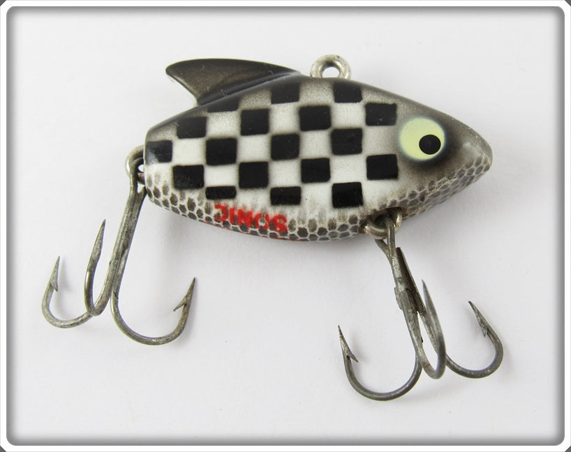 Vintage Heddon Checkerboard Checkered Flag Indy 500 Sonic Lure 385 BWC